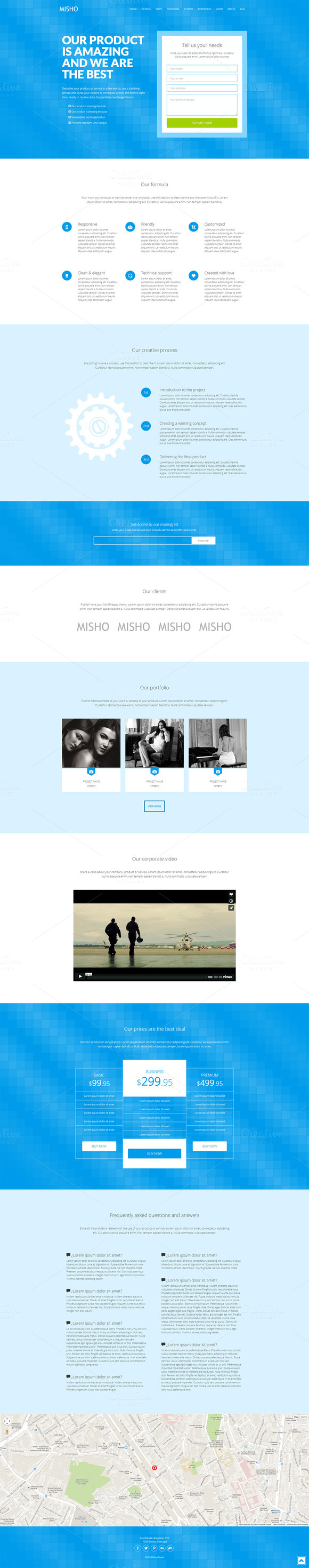 Peace Responsive Landing Page