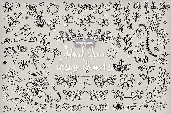 Vector Hand Draw Design Elements