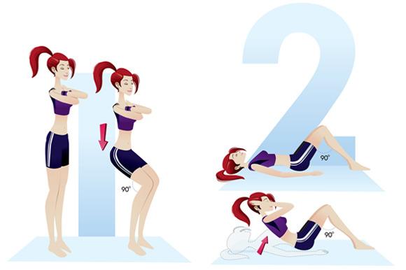 Girl Exercises