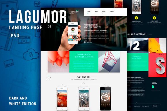 Lagumor Landing Page PSD