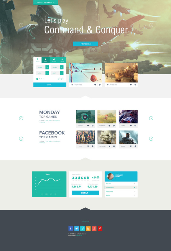 FLAT Fully Layered PSD Template
