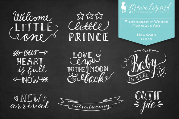 Photography Words Overlays Newborn