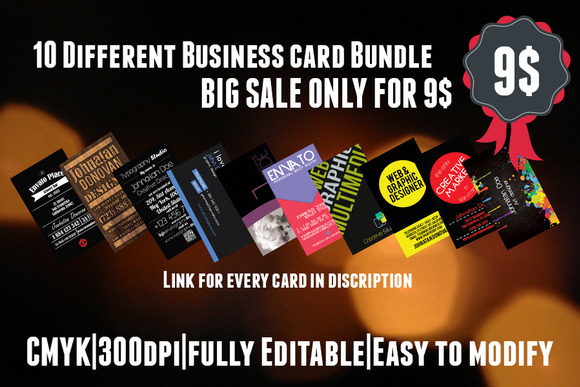 SALE 10 Different Business Card 9$
