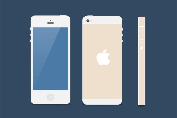 Flat IPhone 5s Mockup