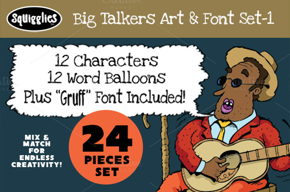Big Talkers Art Font Set-1