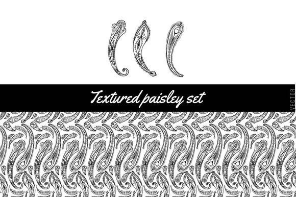 Textured Paisley Set