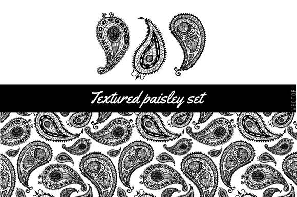 Textured Paisley Set 2