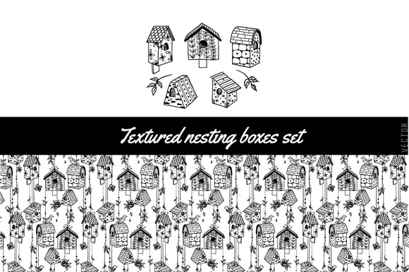 Textured Nesting Boxes Set