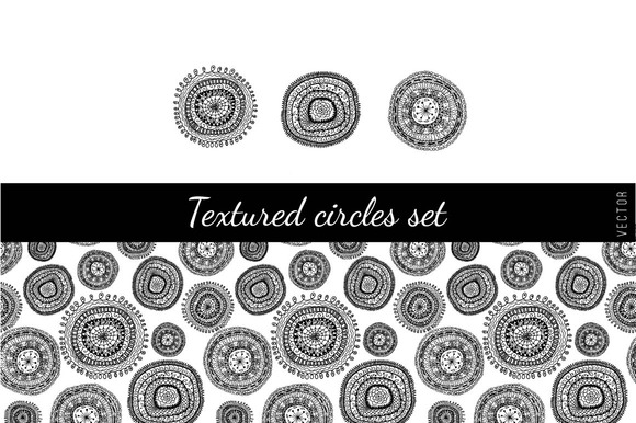 Textured Circles Set