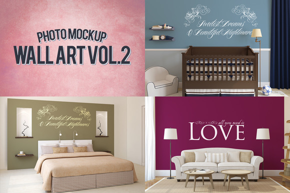 Wall Art Photo Mockups Volume 2