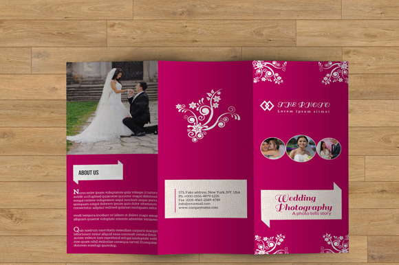 Trifold Brochure For Wedding-V2
