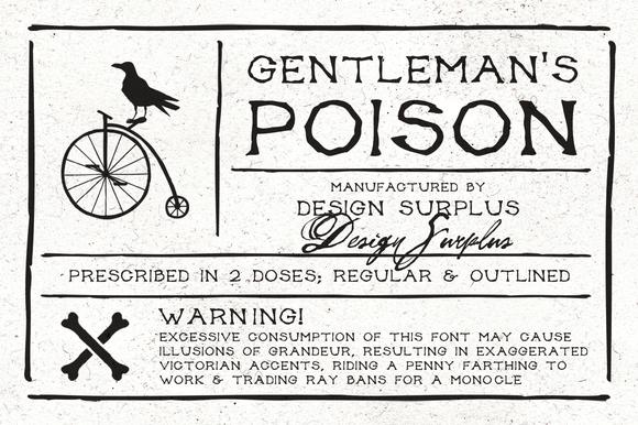 Gentleman S Poison Font $10 INTRO