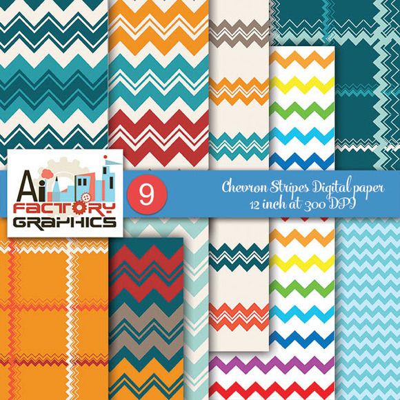 Chevron Pattern Background Papers