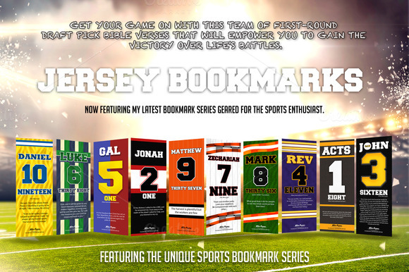 Jersey Sports Christian Bookmarks