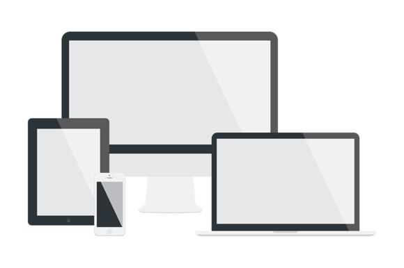 Flat Apple Device Mockups