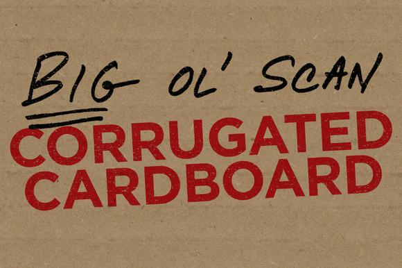 Corrugated Cardboard Big Ol Scan