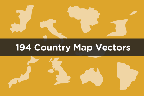 194 Country Map Vectors