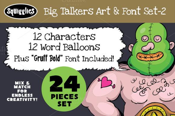 Big Talkers Art Font Set-2