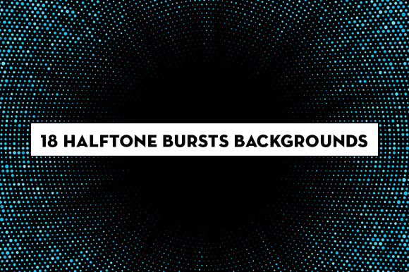 Halftone Pattern Burst Backgrounds