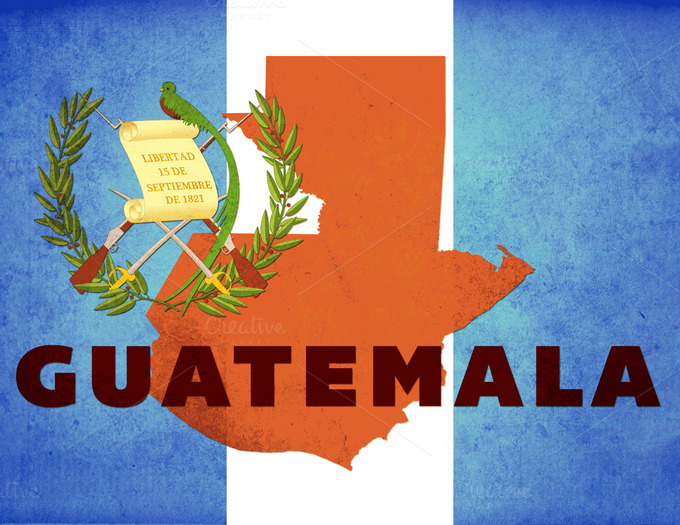 guatemala grunge flag by - photo #33