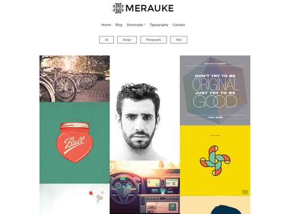 Merauke Portfolio Modern Blog