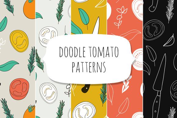 Tomato Seamless Patterns