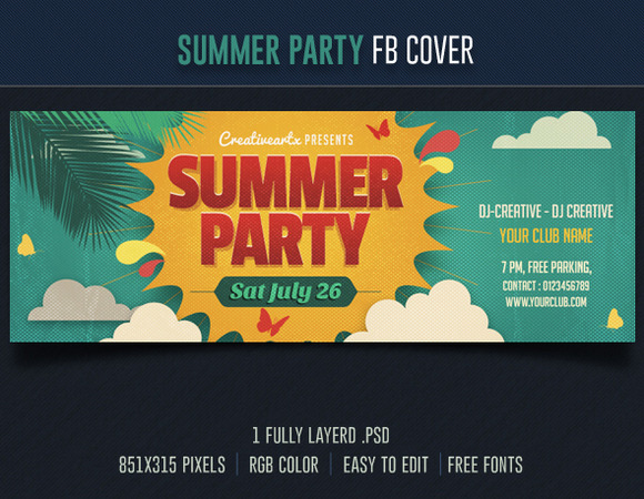 Summer Party FB Cover