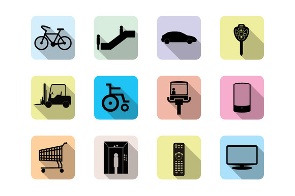Set Of Flat Web Icon