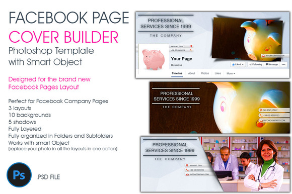 Facebook Page Cover Builder