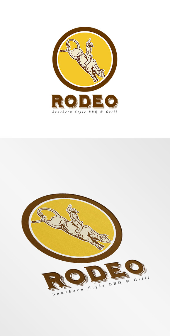 Rodeo Talk Bar And Grill Logo Rode