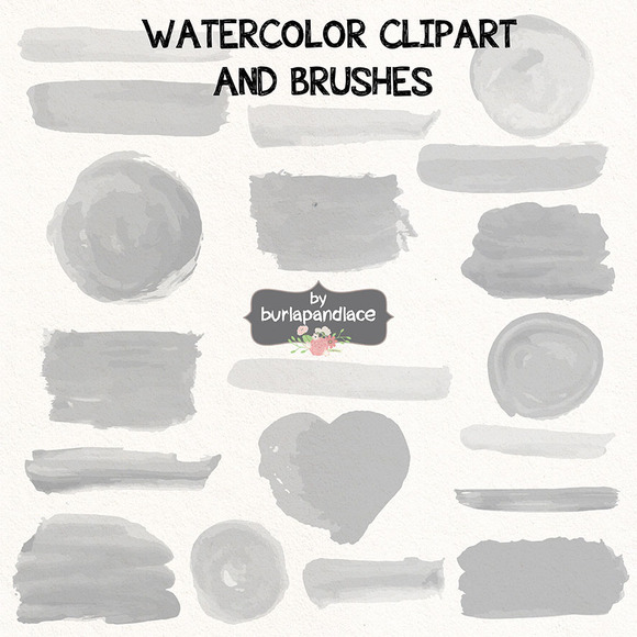 Vector Watercolor Clipart Brush