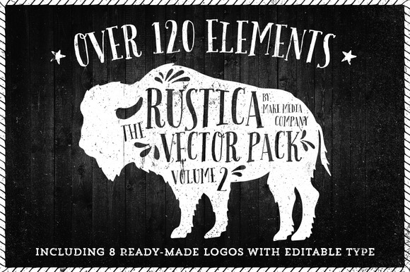 Rustica Vector Pack Vol 2 8 Logos