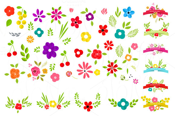 58 Unique Wedding Floral Clipart
