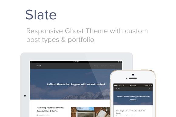 Slate Responsive Ghost Theme
