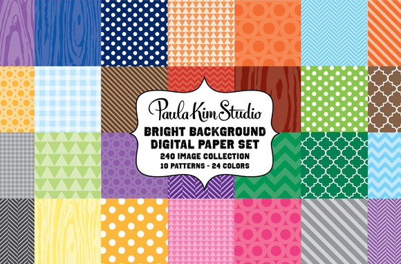 Bright Background Digital Paper Set
