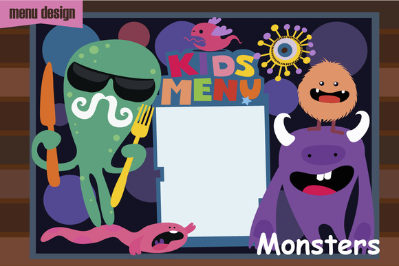 Kids Menu Monsters