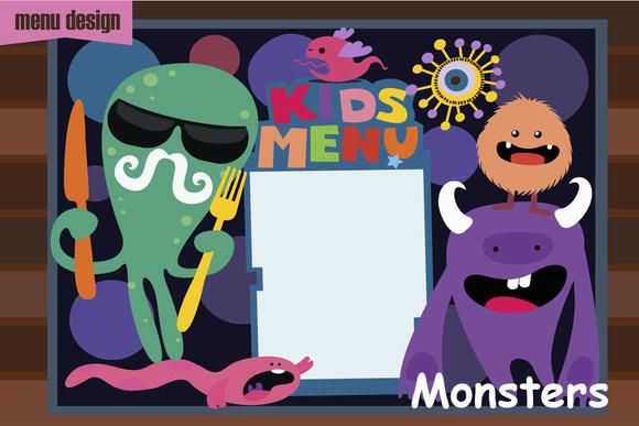 Kids Menu Monsters