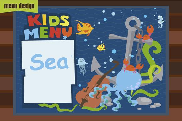 Kids Menu Sea Cartoons