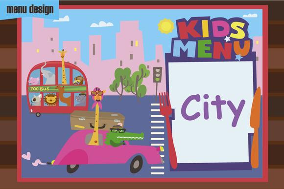 Kids Menu City Cartoons