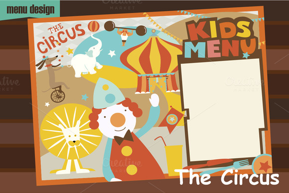 Kids Menu The Circus