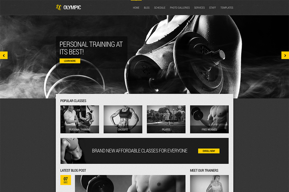 Olympic Fitness Health Theme