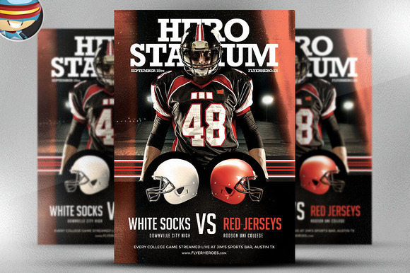 American Football Flyer Template 2