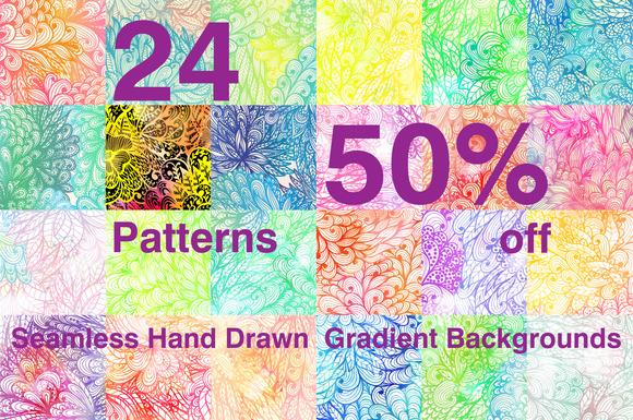 50% Off Gradient Patterns