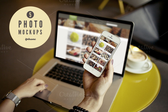 5 IPhone Photo Mockups