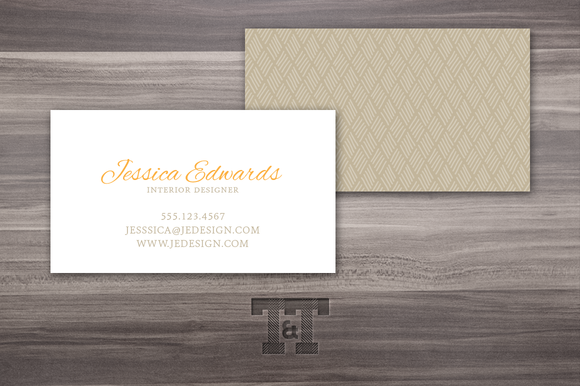 Elegant Pumpkin Business Card
