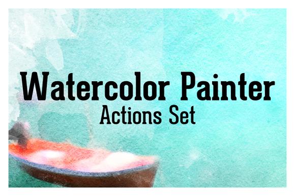 Watercolor Painter Actions Set