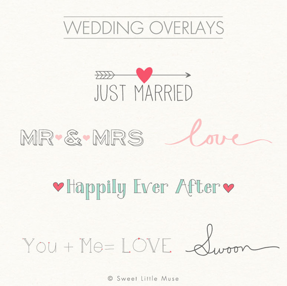 Digital Word Overlays Wedding