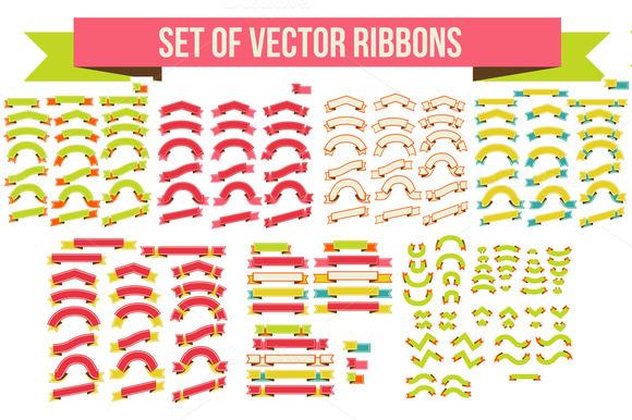 Set Of Vector Ribbons