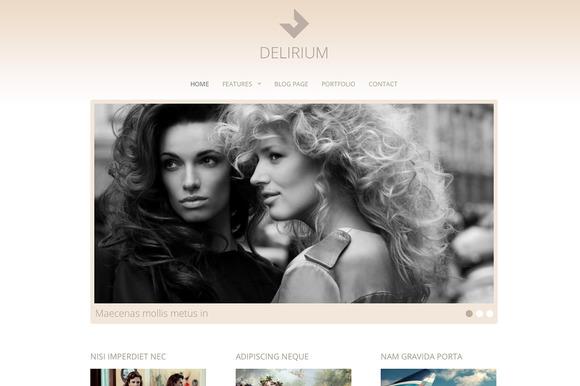 Delirium Fashion Portfolio Theme