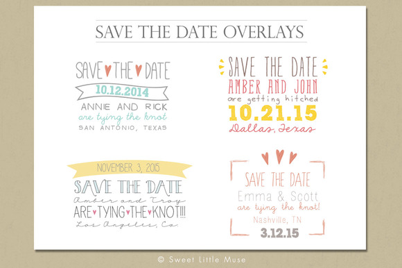 Save The Date Overlays Word Overlay